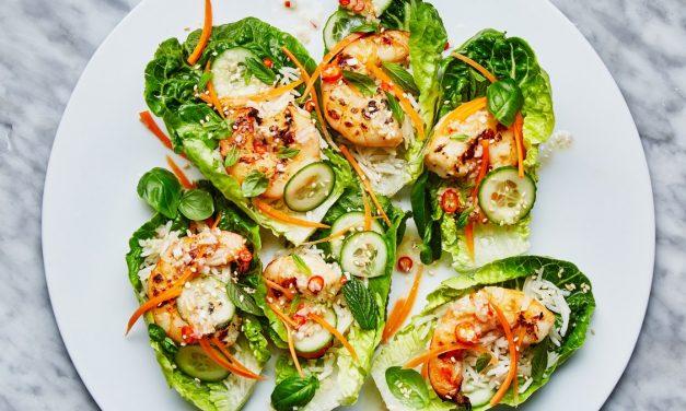 GrilledShrimp Lettuce Cups Recipe