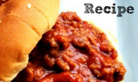 Homemade Sloppy Joe Recipe