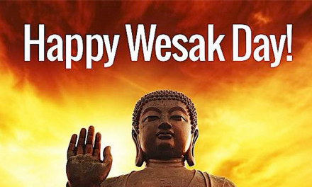 Happy Wesak Day! On this most sacred day, celebrating the birth, Enlightenment and Paranirvana of Gautama Buddha, we wish all sentient beings health, happiness, and ultimate Enlightenment.