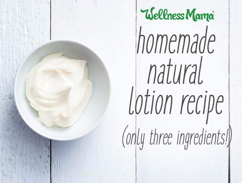 Homemade Lotion Recipe